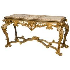 Italian Rococo Carved Giltwood Console, 18th Century