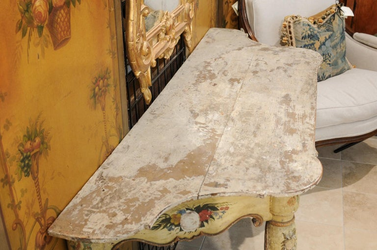 Italian Rococo Painted Console, Mid-18th Century For Sale 6