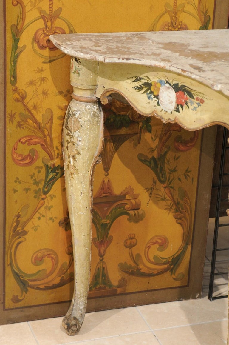 Italian Rococo Painted Console, Mid-18th Century For Sale 1