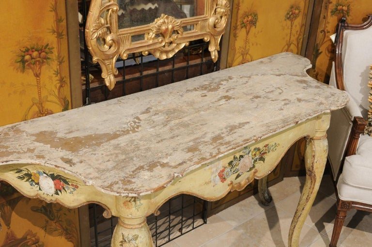 Italian Rococo Painted Console, Mid-18th Century For Sale 2