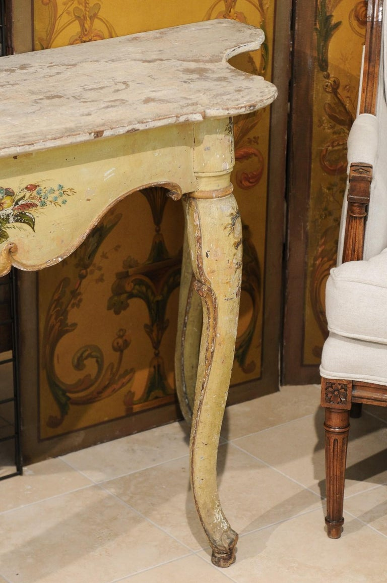 Italian Rococo Painted Console, Mid-18th Century For Sale 3