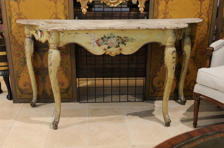 Italian Rococo Painted Console, Mid-18th Century For Sale 4