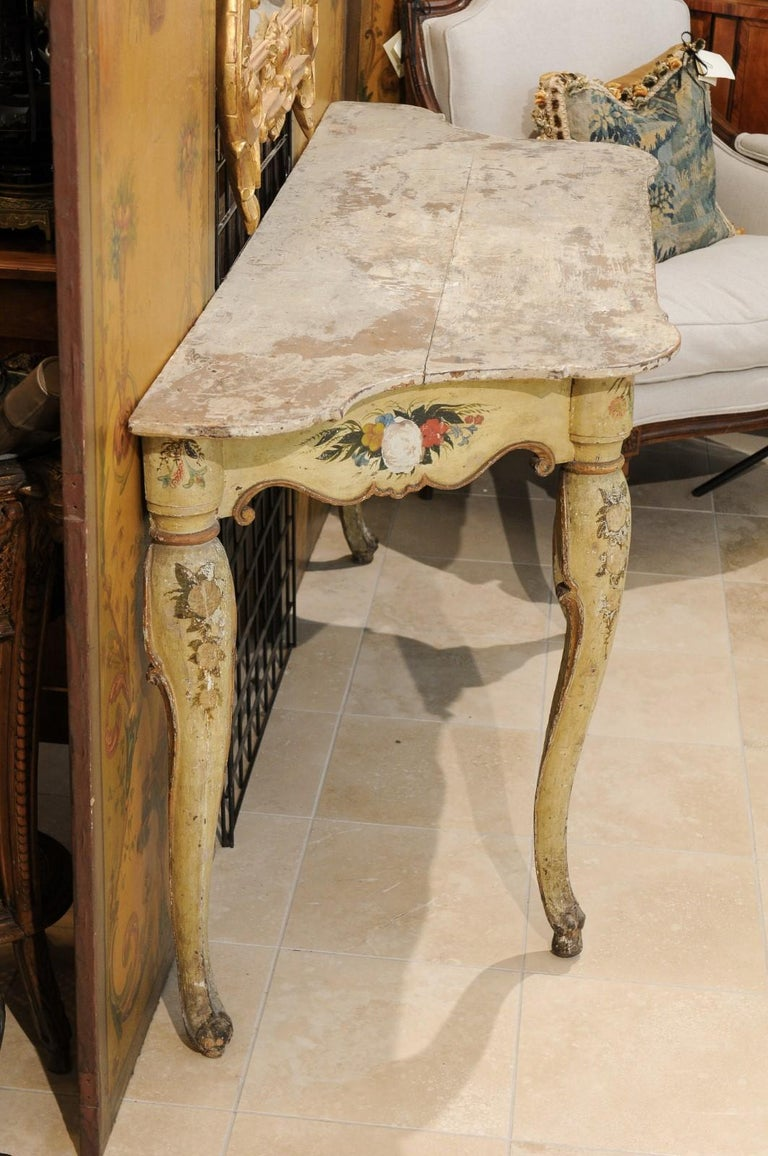 Italian Rococo Painted Console, Mid-18th Century For Sale 5