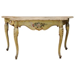 Italian Rococo Painted Console, Mid-18th Century