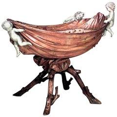 Italian Rococo Style '18th-19th Century' Fruitwood Cupid Crib