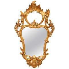 Italian Rococo Style Carved and Gilded Mirror