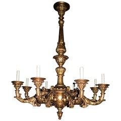 Italian Rococo Style Giltwood Chandelier