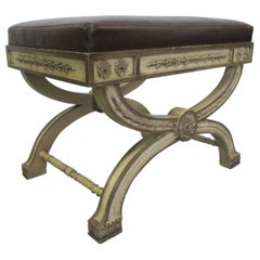 Italian Rococo Style Painted Bench