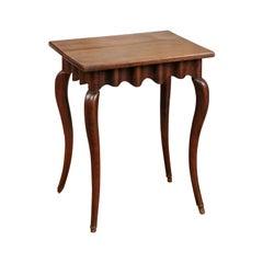 Italian Rococo Style Walnut and Oak Side Table, circa 1880