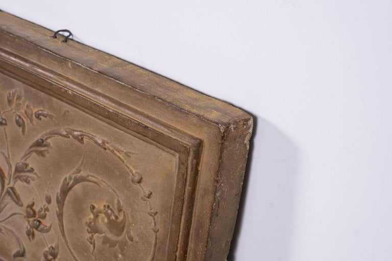 Hand-Crafted Italian Rococo Terracotta Frieze For Sale