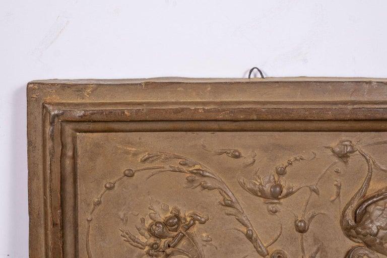 Italian Rococo Terracotta Frieze In Good Condition For Sale In Houston, TX