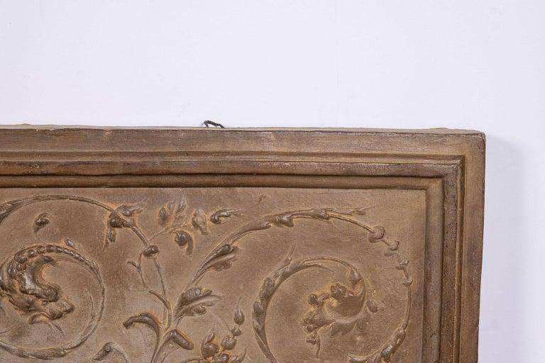18th Century Italian Rococo Terracotta Frieze For Sale