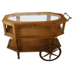 Rolling Bar Cart/ Display Case