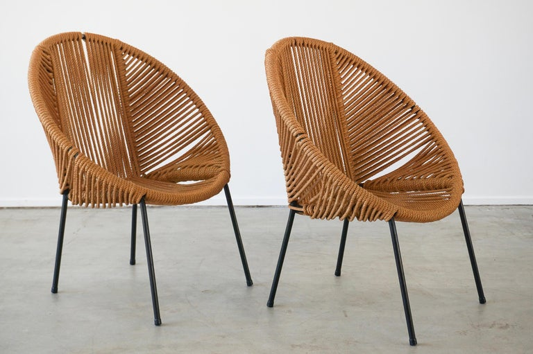 Italian Rope Chairs In Good Condition For Sale In Los Angeles, CA