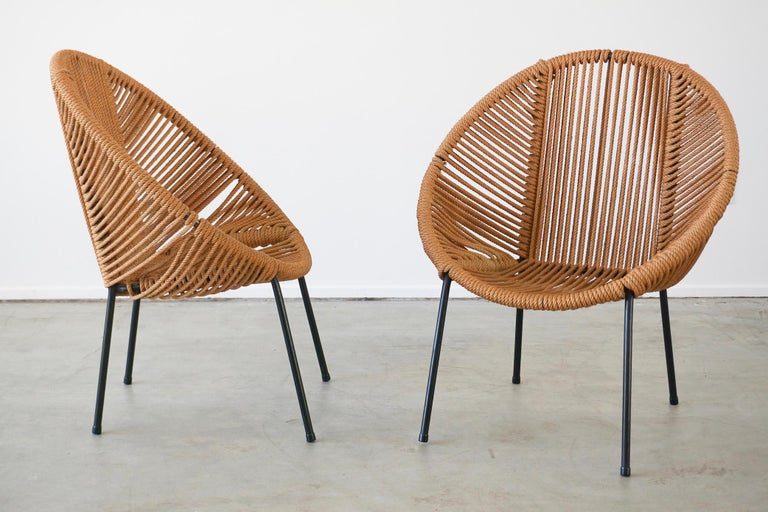 Mid-20th Century Italian Rope Chairs For Sale