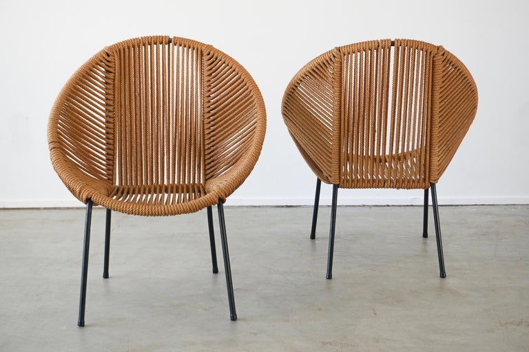 Iron Italian Rope Chairs For Sale