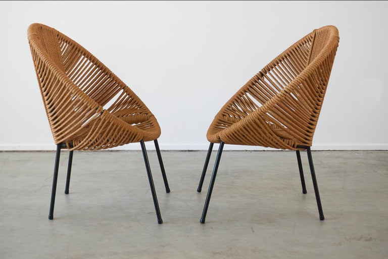 Italian Rope Chairs For Sale 1