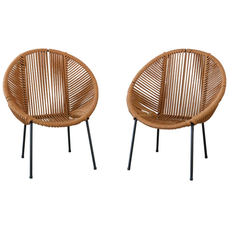 Italian Rope Chairs For Sale