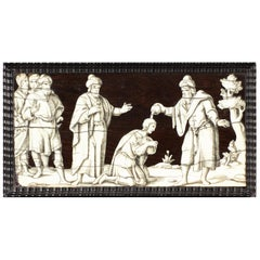 Italian Rosewood and Bone Engraved Panels, circa 1620-1640