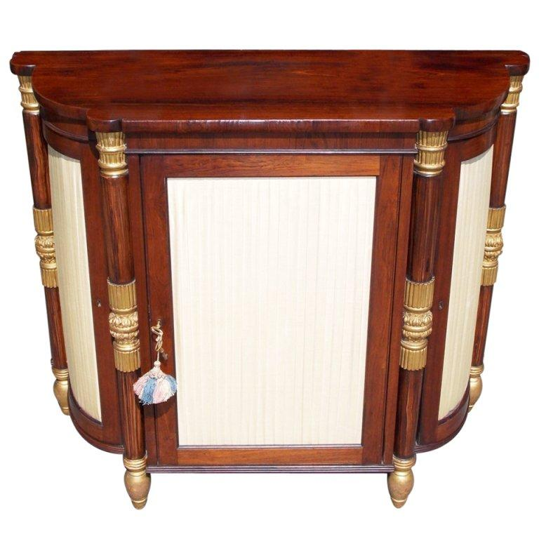 Italian Rosewood and Gilt Console For Sale