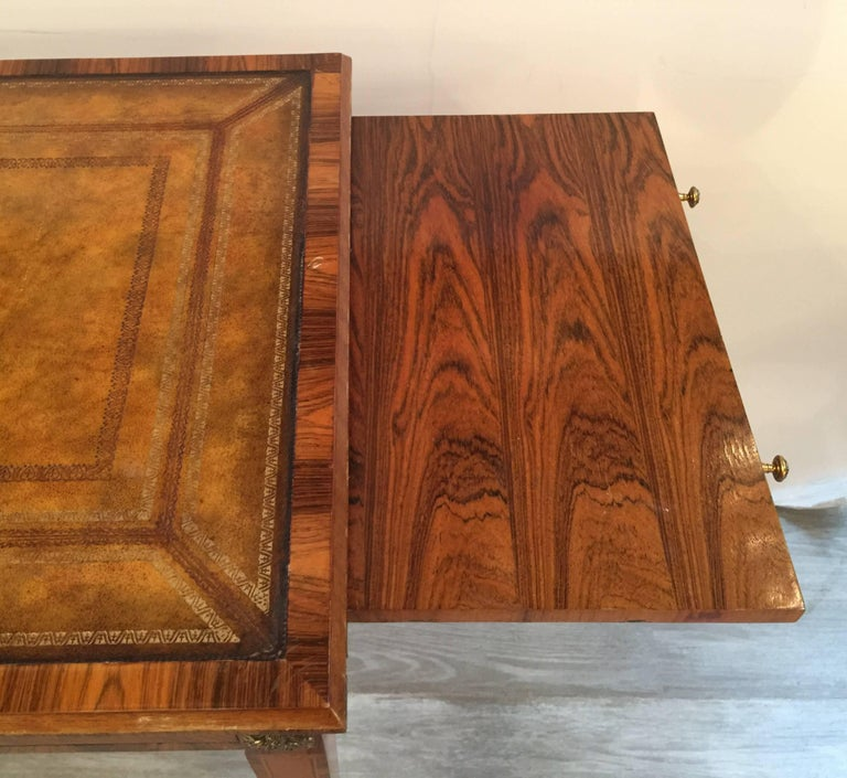 Italian Rosewood and Leather Top Table Desk 1