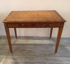 Italian Rosewood and Leather Top Table Desk