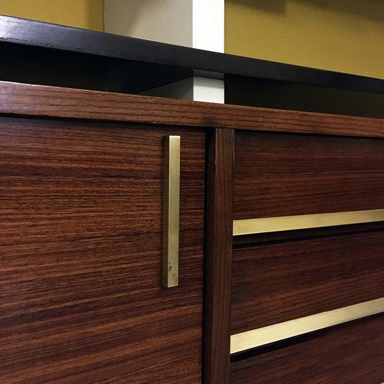 Italian Rosewood and White Wooden Extenso Bookcase by AMMA Torino, 1960s For Sale 7