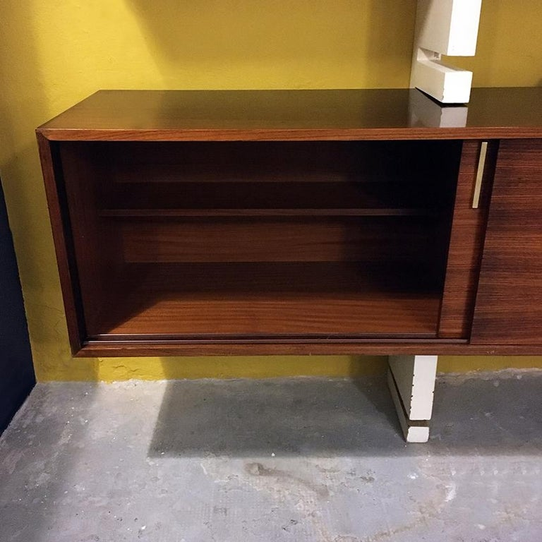 Italian Rosewood and White Wooden Extenso Bookcase by AMMA Torino, 1960s For Sale 9