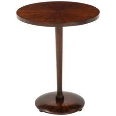 Italian Rosewood Circular Side Table