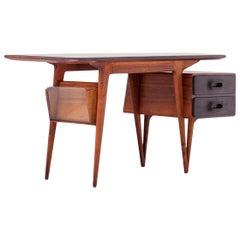 Italian Rosewood Desk, 1950s