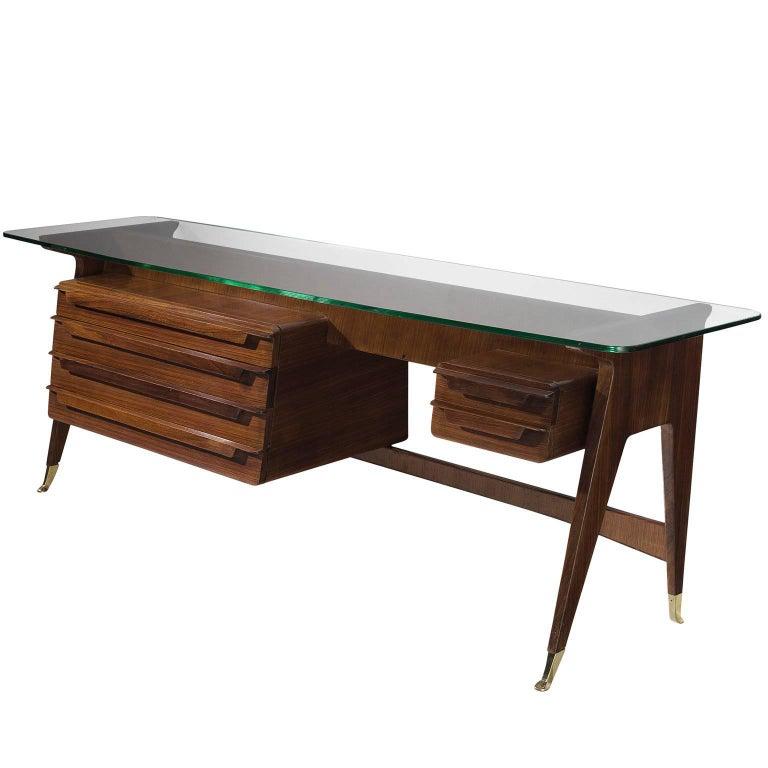Italian Rosewood Dressing Table, circa 1950