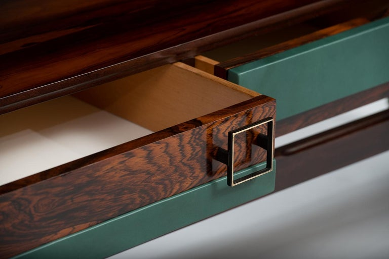 Varnished Italian Rosewood Highboard and Dry Bar