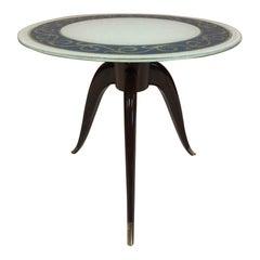 Italian Rosewood Pedestal Side Table