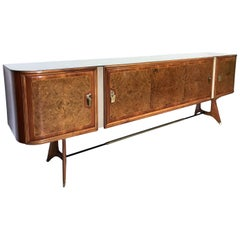 Italian Sideboard with Birch Briar Root by Vittorio Dassi, 1950s