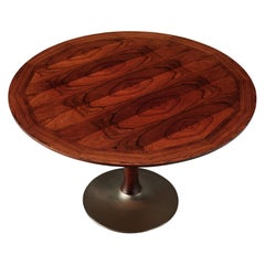Italian Rosewood Table with Adjustable Height
