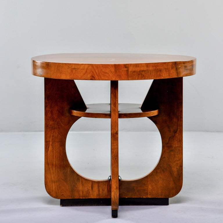 Italian Round Art Deco Side Table For Sale 5