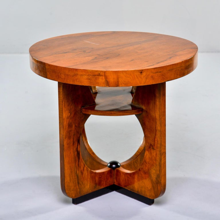 Italian Round Art Deco Side Table For Sale 2