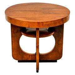 Italian Round Art Deco Side Table