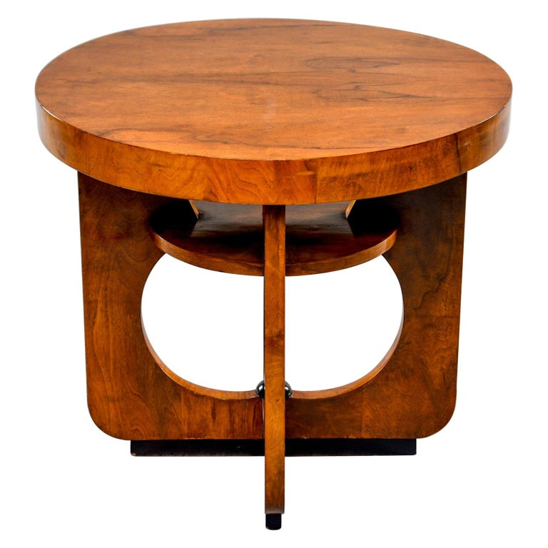 Italian Round Art Deco Side Table For Sale