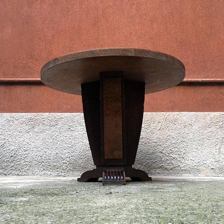 Italian Round Briar Table, Designed by Pierluigi Colli, 1940s For Sale 4