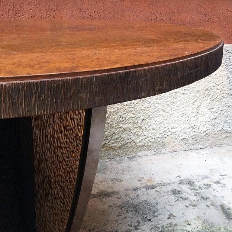Mid-20th Century Italian Round Briar Table, Designed by Pierluigi Colli, 1940s For Sale