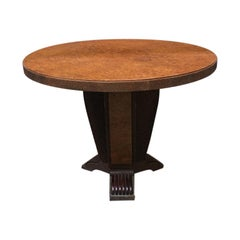 Italian Round Briar Table, Designed by Pierluigi Colli, 1940s