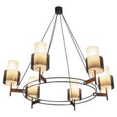 Italian Round Chandelier with Six Lamps
