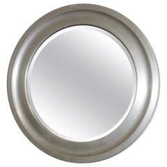 Italian Round Mirror 1960s in the Style of Artemide