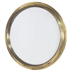 Italian Round Mirror in Brass by Arch. Augusto Savini