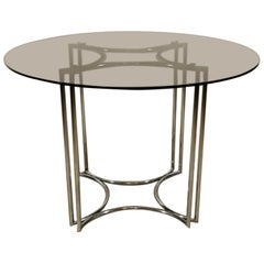 Italian Vintage Round Table Steel, 1970