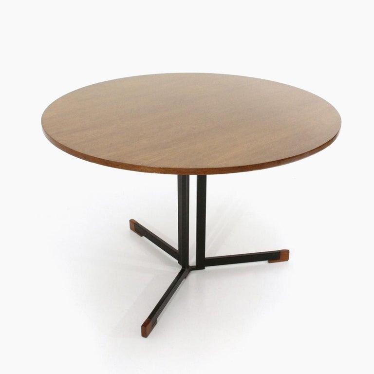 Mid-Century Modern Italian Round Top Table, 1950s