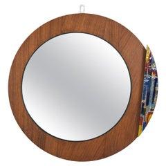 Italian Round Wall Mirror by Vetreria A, Donati