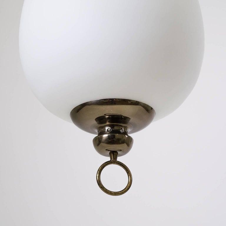 Mid-20th Century Italian Satin Glass Pendant, 1950s For Sale