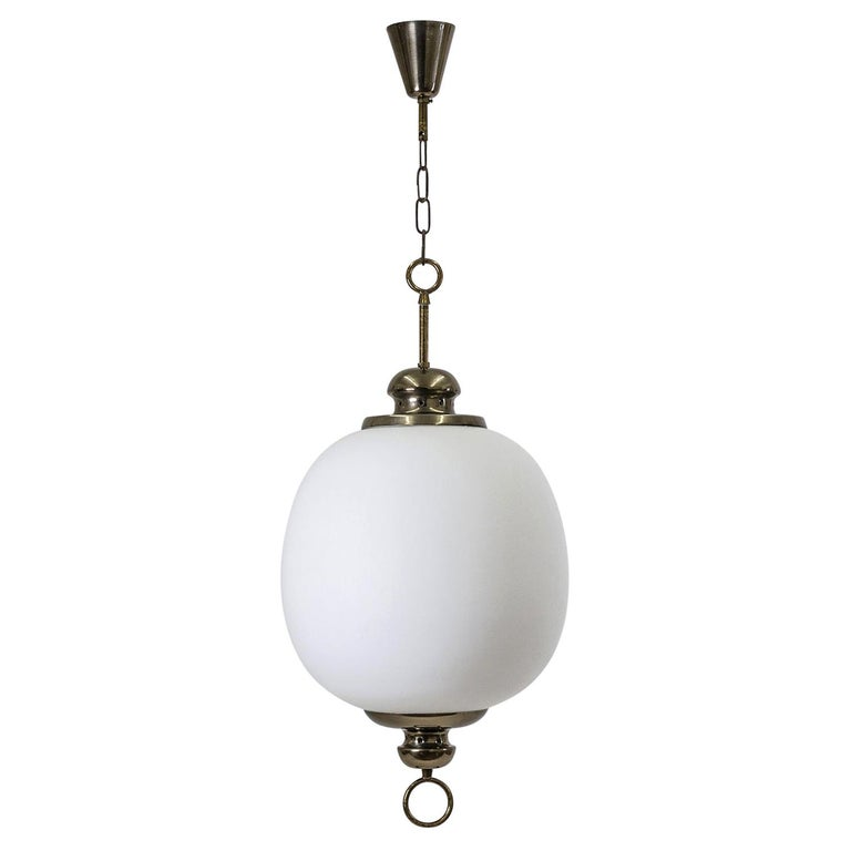 Italian Satin Glass Pendant, 1950s For Sale